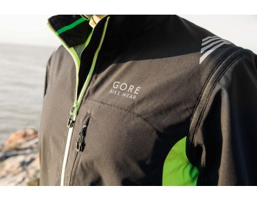 GORE BIKE WEAR ELEMENT WS AS zip-off jacket black/neon yellow