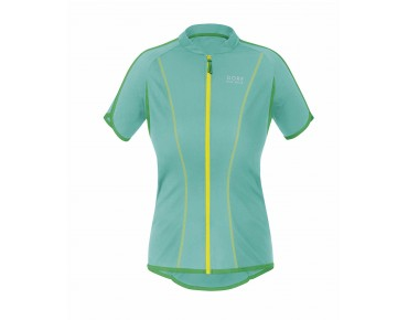 GORE BIKE WEAR COUNTDOWN 3.0 FZ women's jersey turquoise/fresh green