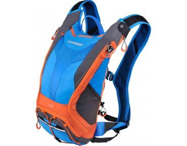 SHIMANO UNZEN II 10 backpack with hydration system lightning blue/orange