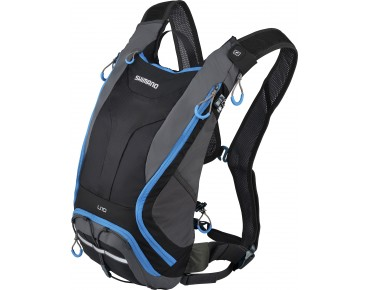 SHIMANO UNZEN II 10 backpack with hydration system black/lightning blue