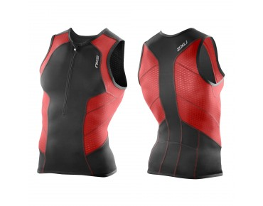 2XU PERFORM Tri Top black/scarlet