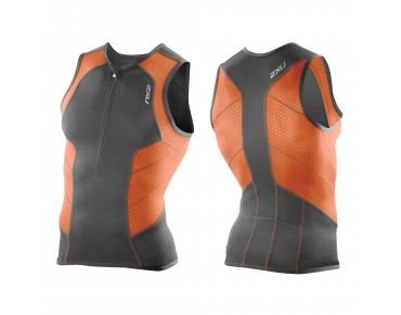 2XU PERFORM Tri Top charcoal/lotus