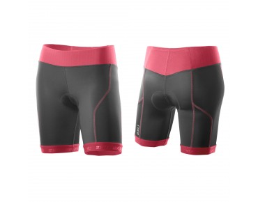 2XU PERFORM women's tri shorts charcoal/coral paradise