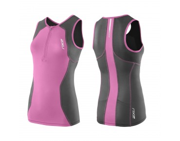 2XU G:2 ACTIVE women's triathlon top charcoal/musik