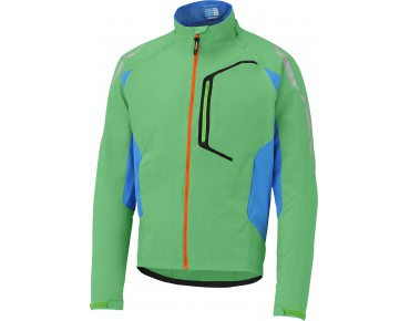 SHIMANO HYBRID windproof cycling jacket iceland green