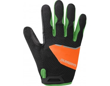 SHIMANO EXPLORER full finger gloves black/orange