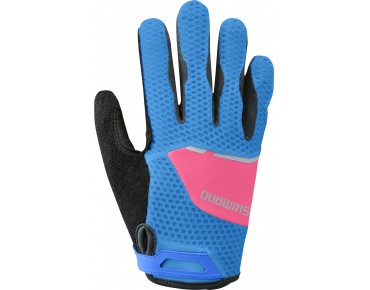 SHIMANO EXPLORER women's full finger gloves lightning blau/jazzberry