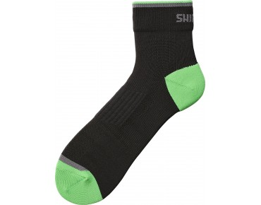 SHIMANO BASIC NORMAL socks schwarz/island grün