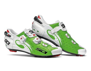 SIDI WIRE CARBON VERNICE road shoes green fluo/white