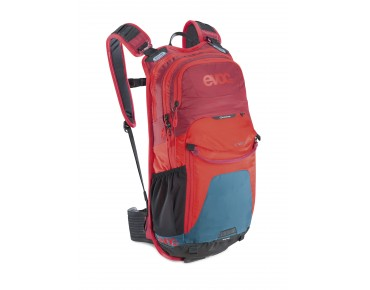 evoc STAGE 12L - zaino teal/red/ruby