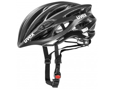 uvex race 1 helmet black mat/shiny