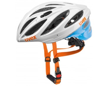 uvex boss race Helm white/blue