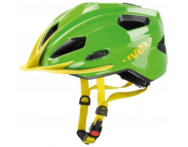 uvex quatro junior Kinderhelm green/yellow