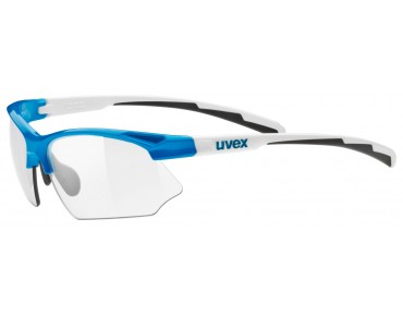 uvex SPORTSTYLE 802 VARIO glasses blue white/variomatic smoke