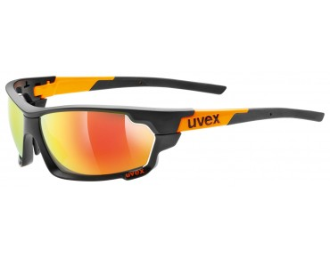 uvex sportstyle 702 glasses black mat orange/mirror orange