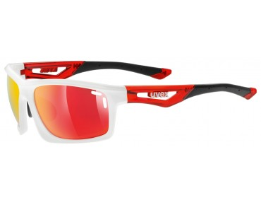 uvex SPORTSTYLE 700 Brille white red/mirror red