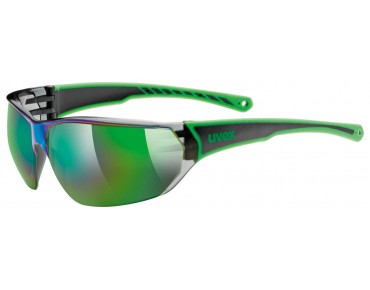 uvex SPORTSTYLE 204 glasses black green/mirror green