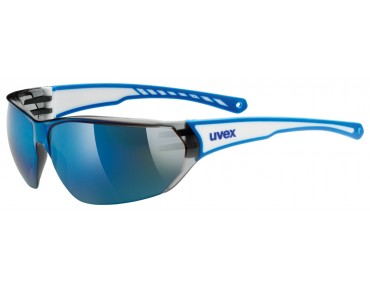 uvex SPORTSTYLE 204 glasses white blue/mirror blue