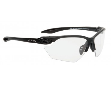 ALPINA TWIST FOUR VL+ S sports glasses black matt/varioflex+black