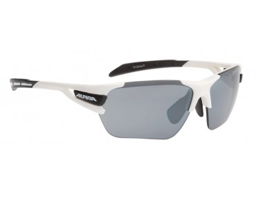 ALPINA TRI SCRAY S sports glasses white.black/black mirror