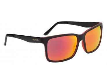 ALPINA DON HUGO Brille black matt-red/varioflex black