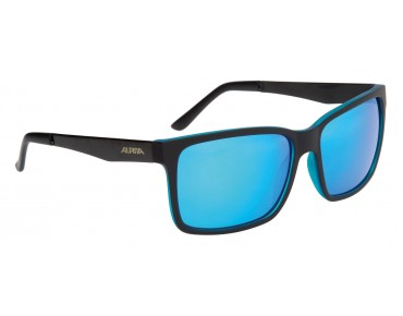 ALPINA DON HUGO Brille black matt-blue/blue mirror