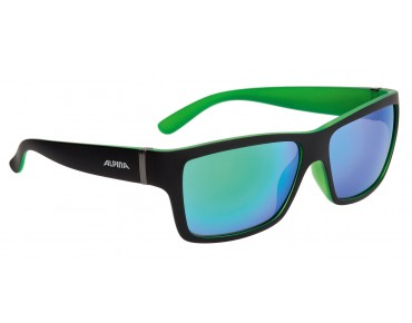 ALPINA KACEY glasses black matt-green/green mirror