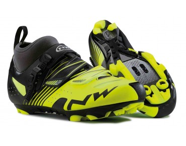 NORTHWAVE CX TECH mountain bike shoes yellow fluo/black