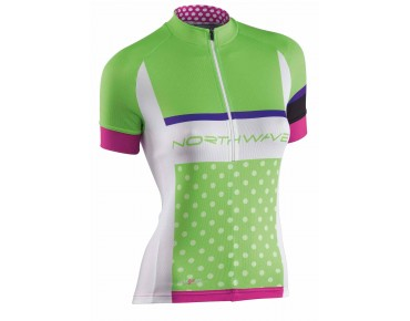 NORTHWAVE LOGO Damen Trikot green/white
