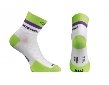 NORTHWAVE LOGO women's socks white/green