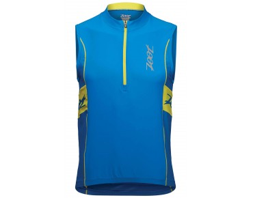 ZOOT PERFORMANCE sleeveless tri jersey zoot blue/sub atomic yellow