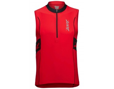 ZOOT PERFORMANCE - maglia senza maniche triathlon black/zoot red