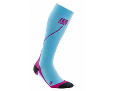 cep RUN 2.0 women's compression socks hawai blue/pink