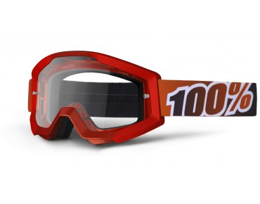 100% STRATA goggles fiery red
