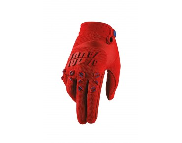 100% AIRMATIC Handschuhe fire red
