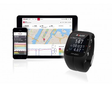 Polar M400 HR GPS training watch black
