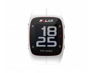 Polar M400 HR sports watch white