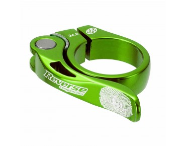Reverse LONG LIFE seat post clamp neon green