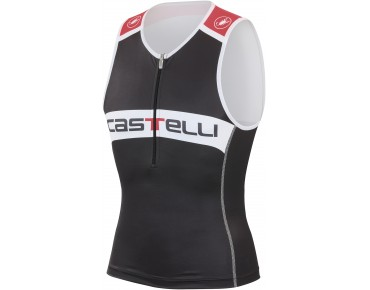 Castelli CORE tri top black/white/red