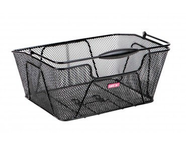REMIO rear bicycle basket schwarz