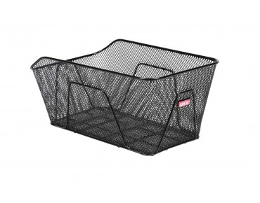ROMANO rear bicycle basket for permanent installation schwarz