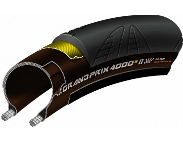 Continental Grand Prix 4000 S II road tyre, folding tyre black/transp.