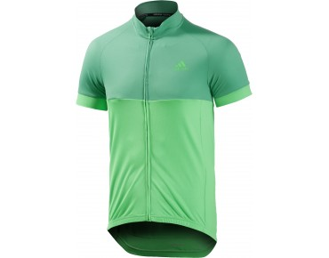 adidas response team jersey bright green s15/flash green s15/grey