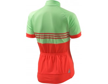 adidas response team women's jersey light flash green s15/flash red s15/grey