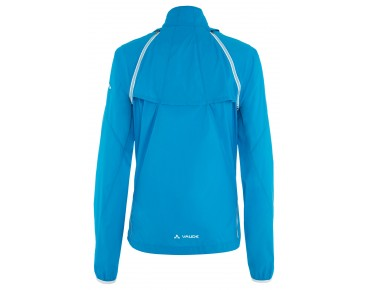 VAUDE WINDOO JACKET zip-off windbreaker for women teal blue