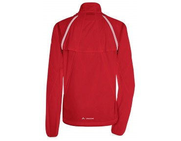 VAUDE WINDOO JACKET zip-off windbreaker for women red