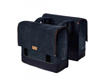 BASIL URBAN FOLD DOUBLE BAG - borse bici deep denim blue