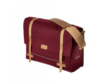 BASIL PORTLAND MESSENGER BAG bicycle bag dark red