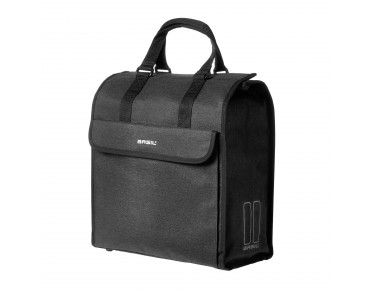 BASIL MIRA 17l single pannier black