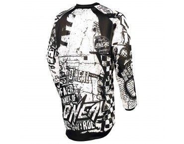 O´NEAL ELEMENT long-sleeved bike shirt WILD black/white